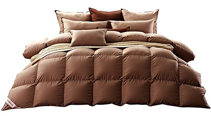Snowman Luxurious Goose Down Comforter Twin Size 100 Cotton Shell