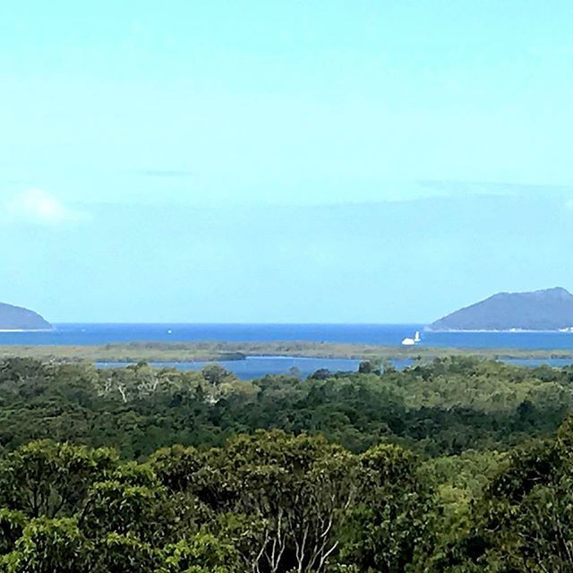 Beautiful view of the entrance to Port Stephens taken from Pindimar #ntphealthproducts #ourpartoftheworld #summertime #portstephens #psiloveyou