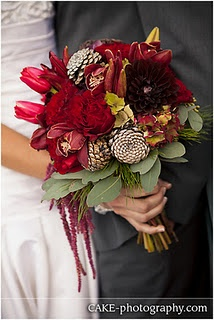 Blooms and Blossoms. #wedding #red bouquet