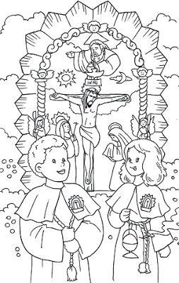 Cuentos de Don Coco: DIBUJO DEL SEÑOR DE LOS MILAGROS PARA COLOREAR || Cuentos Infantiles,Cuentos, Fábulas, Obras, Manualidades, Cuentos par...