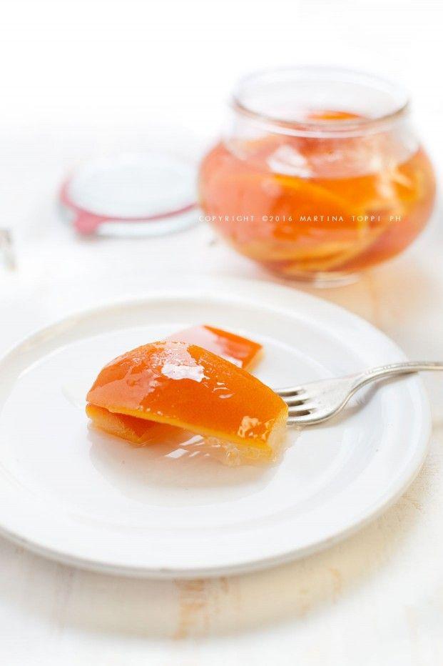 Scorze di arance candite: metodo italiano