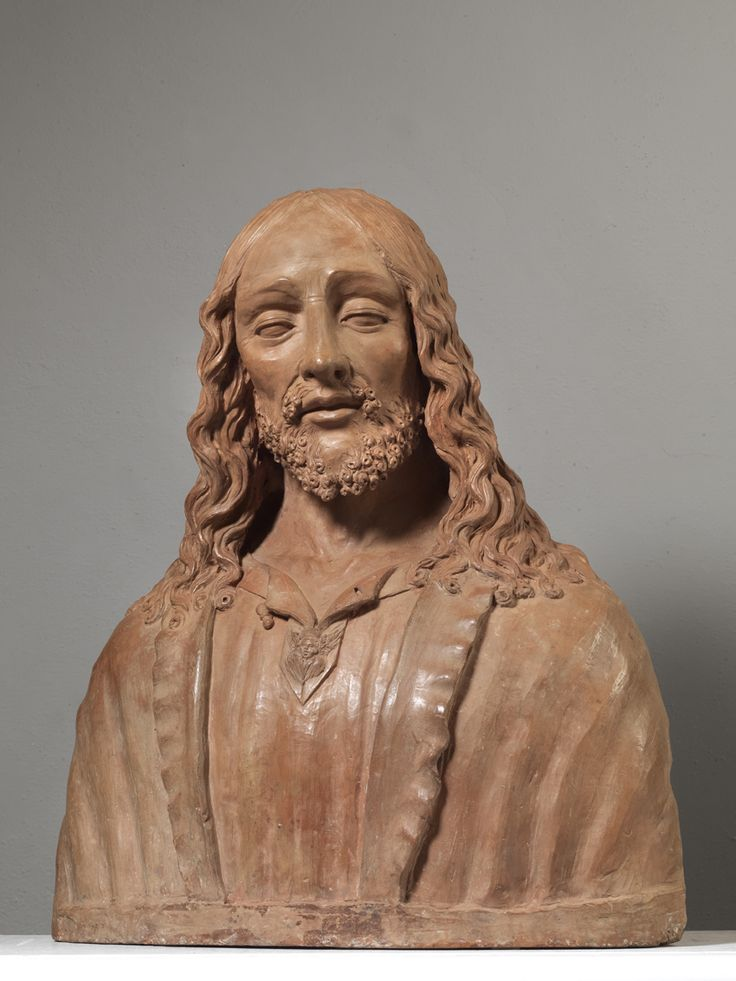 BENEDETTO BUGLIONI,  c. 1510/1520 (Florence 1459/1460 - 1521)  Christ the Redemer  Bust in terracotta;  56x50x23 cm