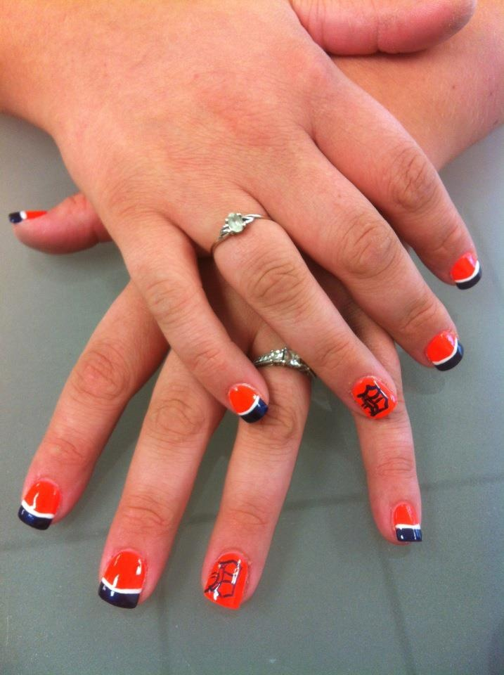 Detroit Tigers Nails 3 Pinterest And
