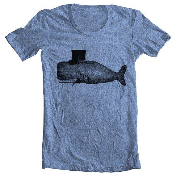 Unisex American Apparel Whale T shirt Hand Printed  http://www.etsy.com/listing/97974507/unisex-whale-t-shirt-mens-womens: Animal