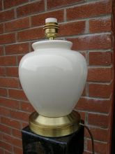 L0265BB  Ceramic Beige Table Lamp