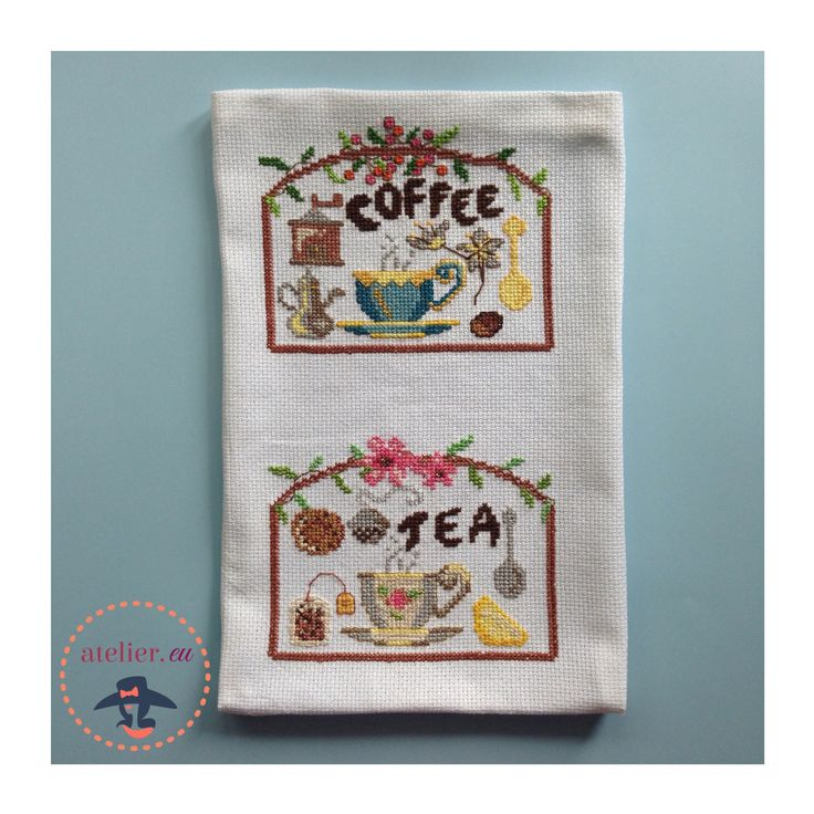 tea and coffee cross stich