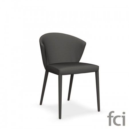 Amelie Wooden Chair with Upholstered Seat by Calligaris