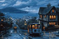 Картина по номерам `Ночной трамвай` (500x650 мм; арт. MMC082)
