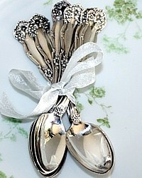 Antique Miniature Teaspoons <3