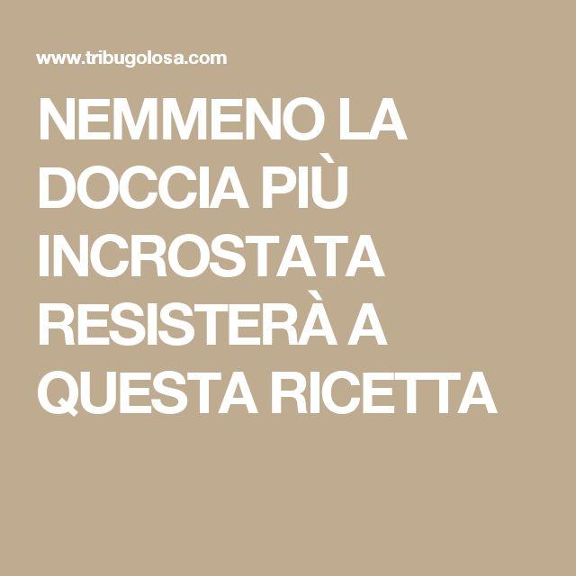 NEMMENO LA DOCCIA PIÙ INCROSTATA RESISTERÀ A QUESTA RICETTA