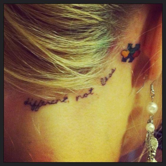 Autism Hairline Tattoo