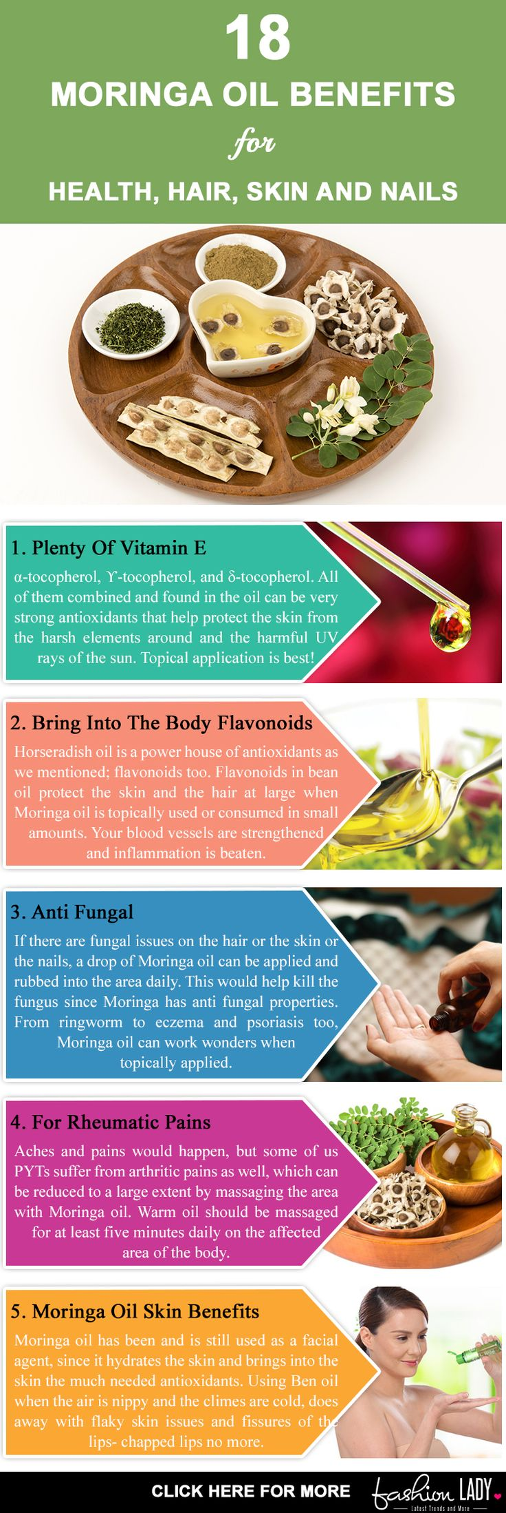18 Moringa Oil Benefits For Health, Hair, Skin And Nails