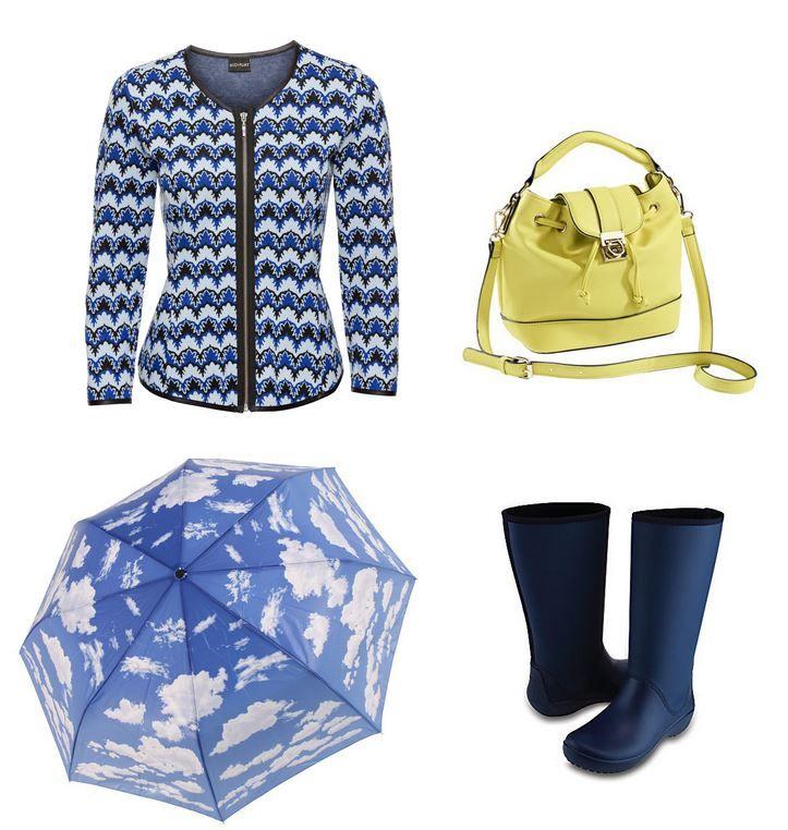 Oblečenie pre moletku do dažďa - obláčikový dáždnik