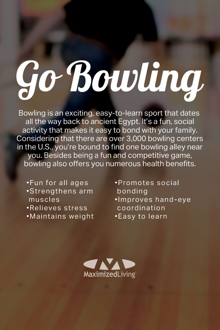 Instead of watching your kids play, go play with them! You'll feel more youthful, reduce stress, set an example, and build memories that your kids will remember for life. This week's #fitfamilies challenge is to take the family bowling!