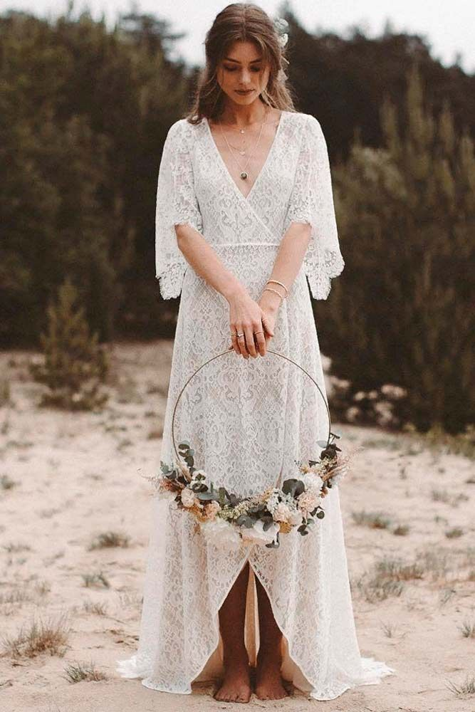 36 Boho Wedding Dress Options To Blow Everyone Away Updated 2020 Lace Wedding Dress With Sleeves Wedding Dress Guide Boho Wedding Dress