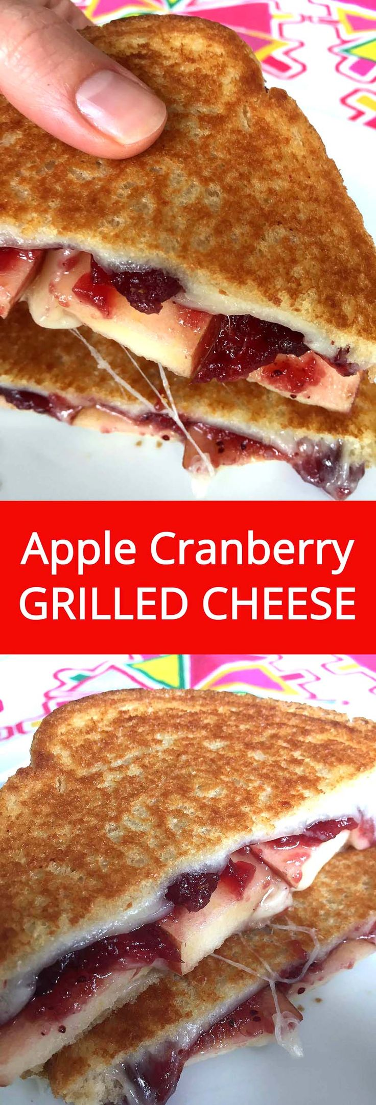 #ad Apple Cranberry Grilled Cheese - mouthwatering!  I love this grilled cheese! #RealCheesePeople @SargentoCheese | MelanieCooks.com
