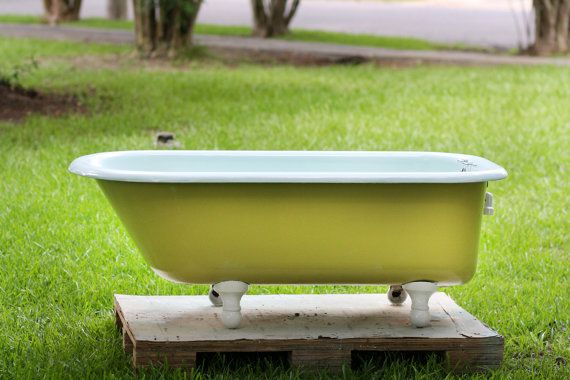 Another really nice 1930s bathtub.  1930 Art Deco 5 Foot Cast Iron Churlish Green & by readytore, $849.00