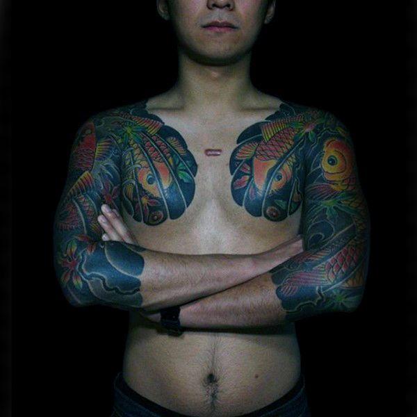 Awesome Unique Koi Fish Guys Japanese Tattoo Sleeve Inspiration