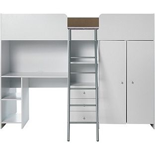 Buy Ohio Single High Sleeper Bed Frame - White at Argos.co.uk - Your Online Shop for Children's beds, Children's beds.