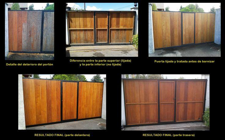 Reparaci n de un port n de cierre de finca de madera muy - Cierres de madera ...