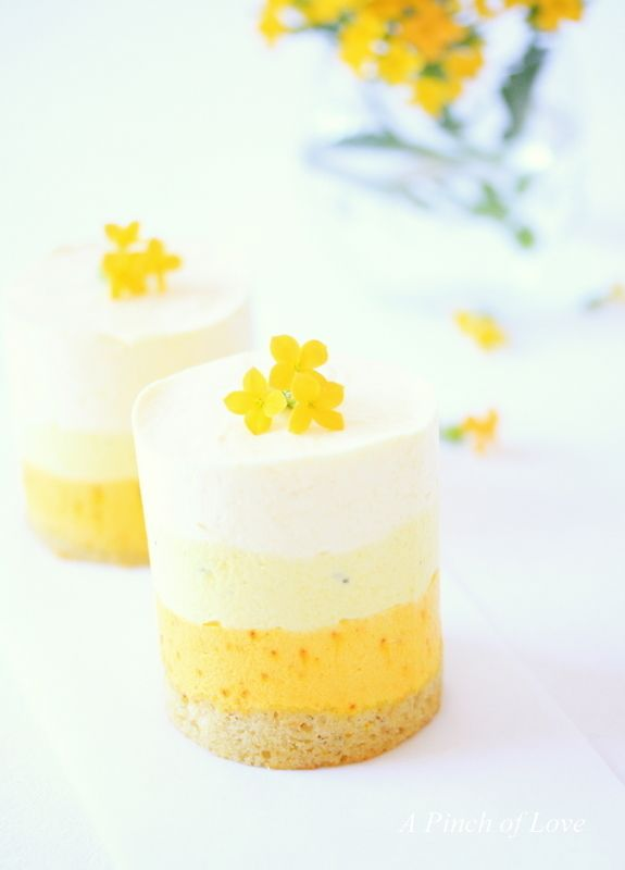 Layered Mango Mousse with Saffron and Cardamom