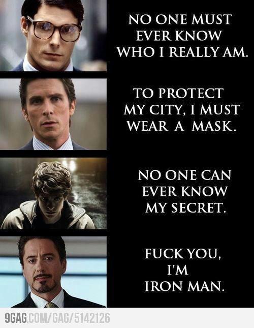 Who am i? I'm Ironman