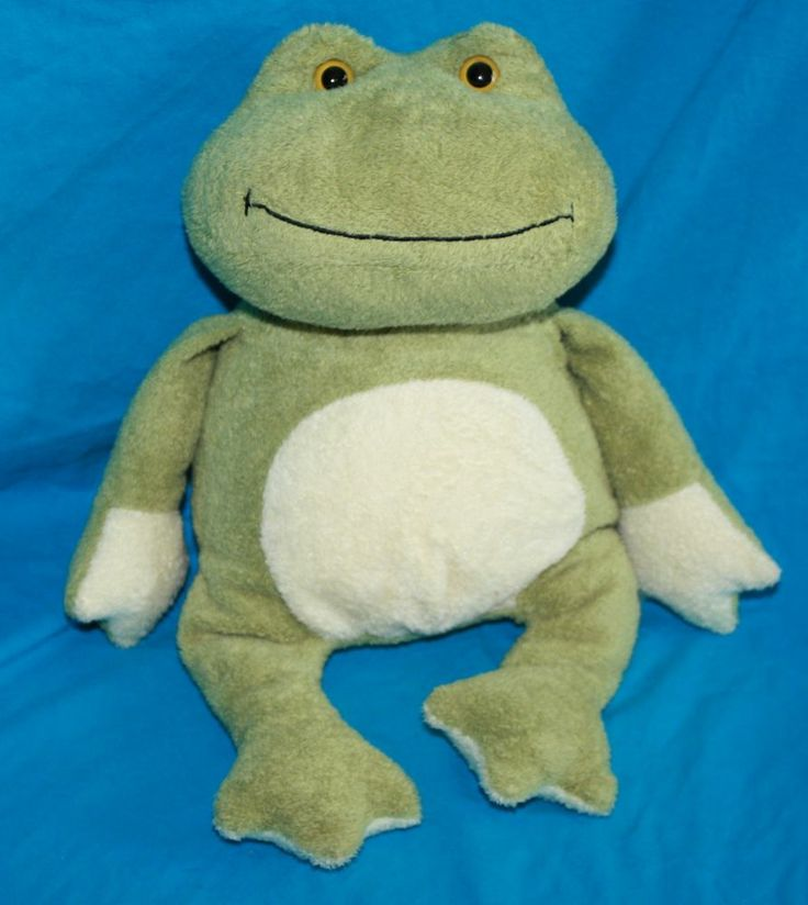 """Ty Classic Kissed the Frog green cream 14"""" Plush 2006 No"""