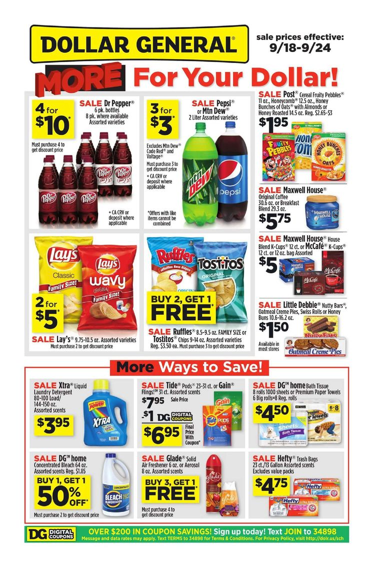 Dollar General Weekly Ad September 18 - 24, 2016 - http://www.olcatalog.com/grocery/dollar-general-weekly-ad.html