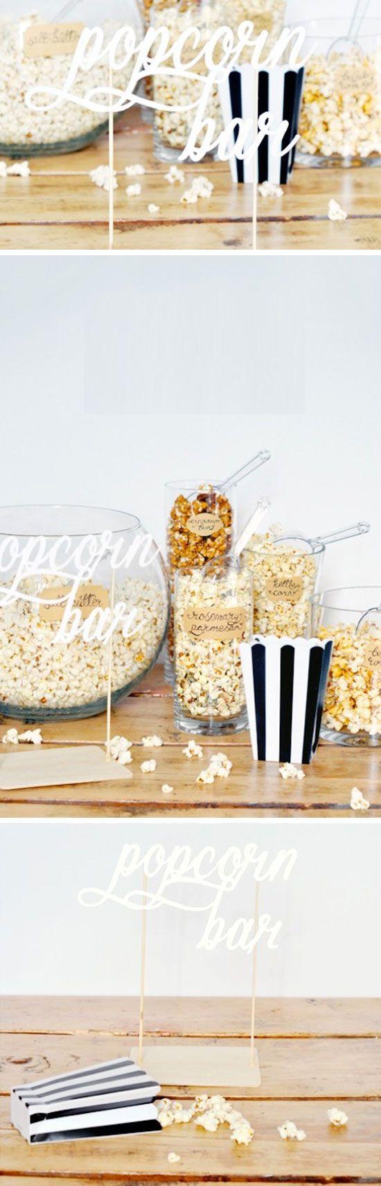 Popcorn Bar | DIY Party Ideas for Teen Girls