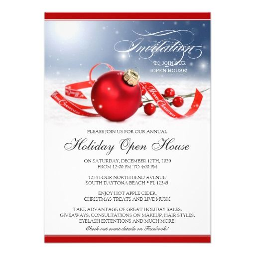 44 best Holiday Open House Invitations images on Pinterest Open - fundraiser invitation
