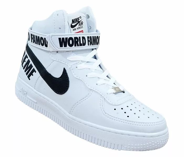 tênis nike - bota nike air force 1 supreme cano alto