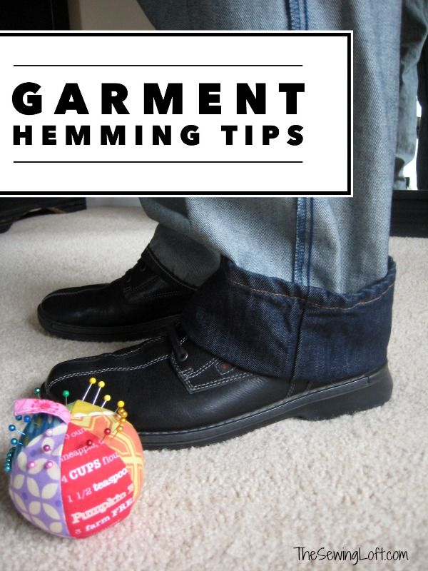 Easy tips to help you hem commercial garments at home. The Sewing Loft