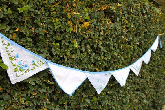 Handkerchief Banner: Entertaining Ideas, Wedding Ideas, Crafty Crafty, Handkerchief Banner, Vintage Handkerchiefs, Party Ideas