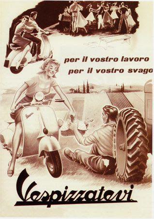 """Buon compleanno Vespa, una 'ragazza' di 69 anni esatti  Il 23 aprile del 1946 Enrico Piaggio registra il brevetto di una strana moto che cambierà gli usi e costumi nazionali. Lo scooter si afferma presto anche oltre i confini nazionali e trova la sua consacrazione nel 1953 quando finisce nel manifesto di """"Vacanze Romane"""". Entrata di diritto anche nei musei approdando, tra gli altri, alla Triennale Design Museum di Milano e al MoMA di New York, ancora oggi, come ieri,è in perfetta forma e…"""