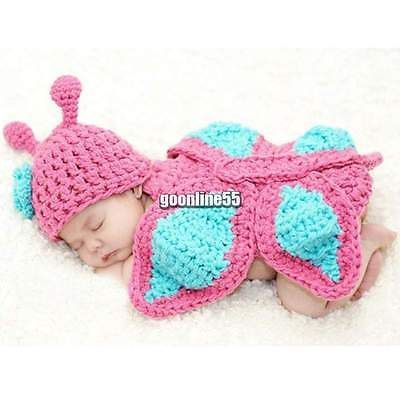 Newborn Baby Unisex Toddler Photo Prop Costume Photography Romper Outfits EA9