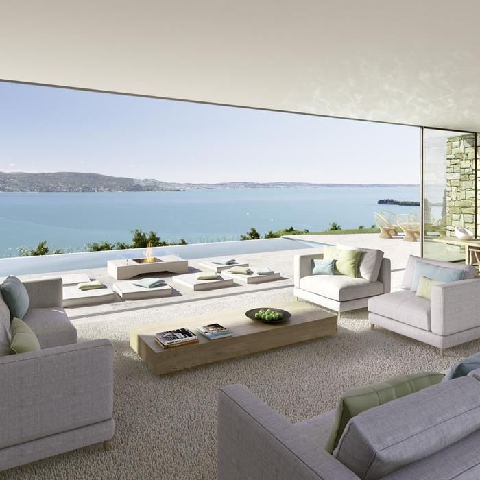 WSH the integration with the outside. Super modern and so chic. Luxury Beauty - http://amzn.to/2jx73RT