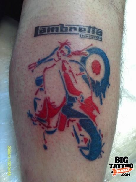 Lambretta scooter tattoos