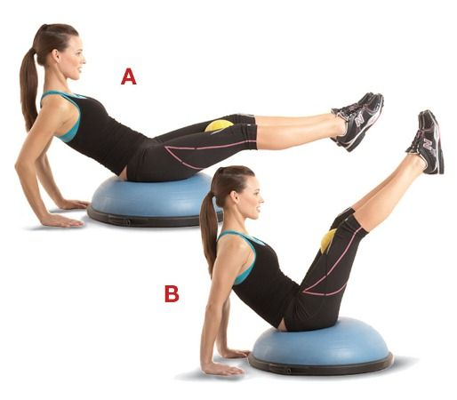 Plank Using Fit Ball And Bosu Ball: Use This 12 Exercise Crunch-free Core Circuit To Demolish