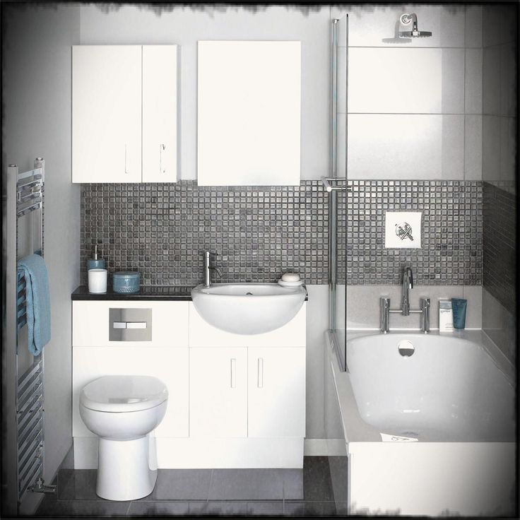 Image result for small grey bathroom