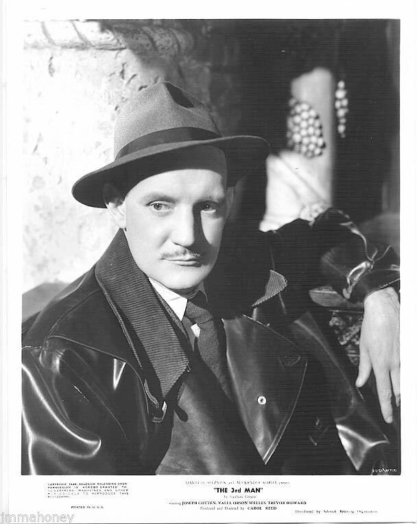 TREVOR HOWARD superb 1949 THE 3RD THIRD MAN close-up Orson Welles Film PHOTO
