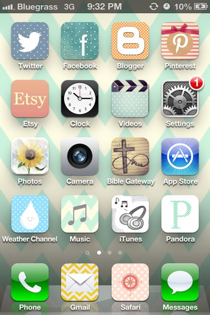 I love this! Now I can't stop making my icons original! Customize your iPhone icons and make it prettier---and completely unique!
