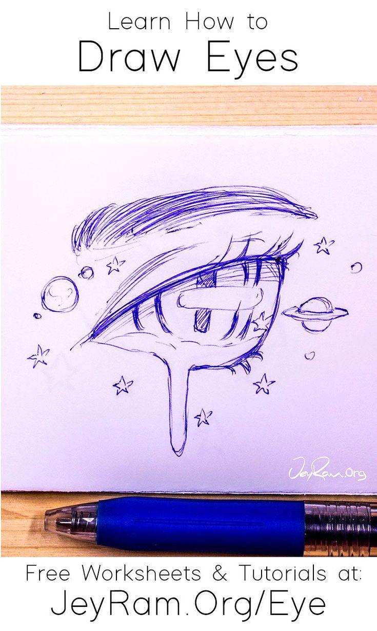 How To Draw Eyes Free Worksheet Tutorial In 2020 Eye Drawing Digital Art Tutorial Beginner Drawings