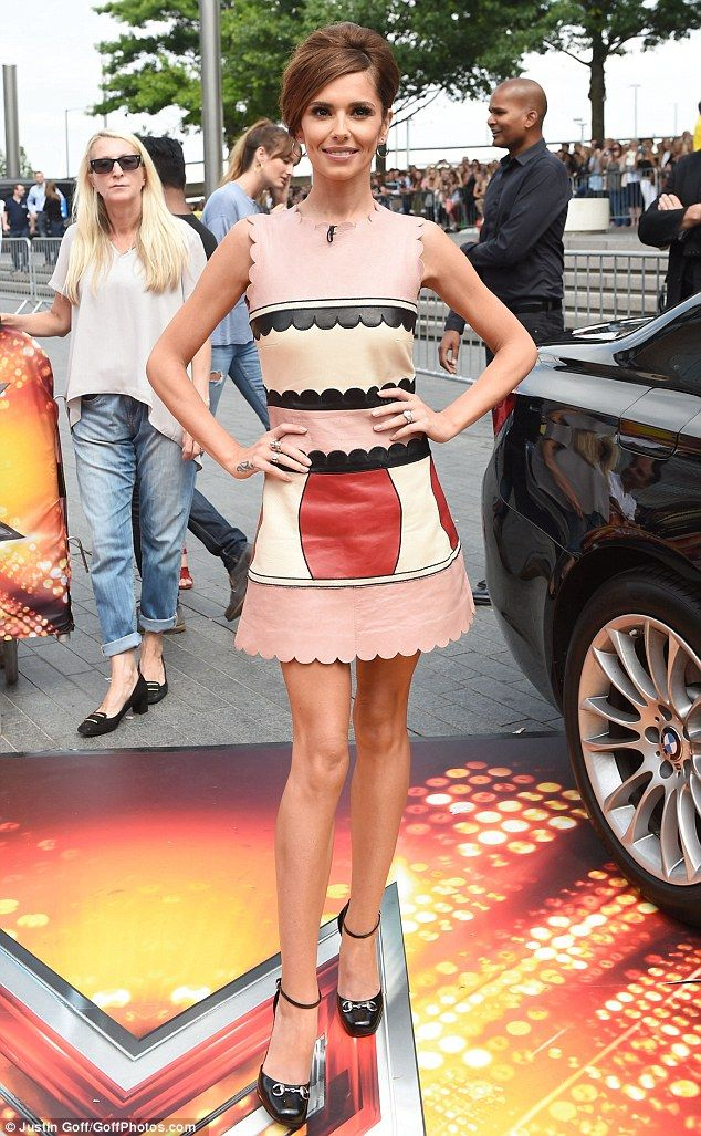 Sixties siren: Cheryl Fernandez-Versini looked like she wasn't going to let any negative comments affect her day on Thursday as X Factor auditions took place in London