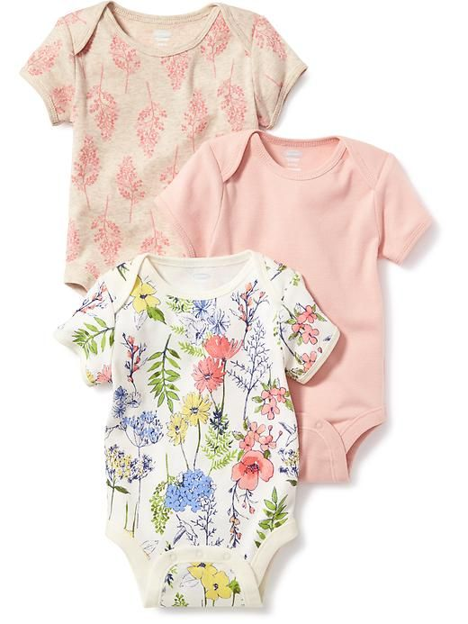 Printed 3-Pack Bodysuit Product Image