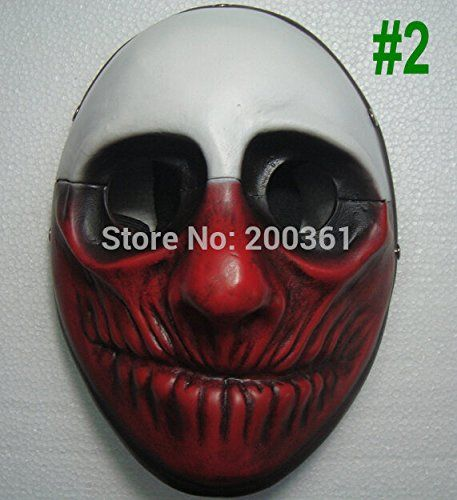 2015  2 new Highgrade resin film theme props Payday the heist Wolf game Demon joker mask Halloween Masquerade Collect party * Be sure to check out this awesome product.