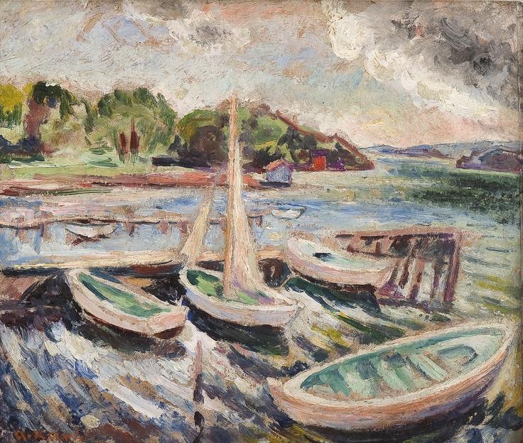 Arne Kavli (1878 – 1970): Båthavn
