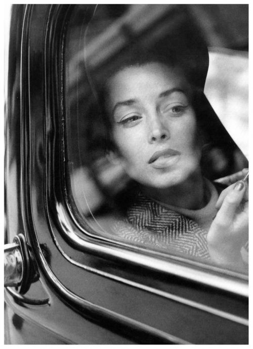 Model Dorian Leigh, 1954. Photographed by her sister, model Suzy Parker.