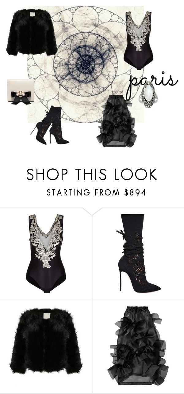 """Paris"" by catherine-earnshaw ❤ liked on Polyvore featuring La Perla, Casadei and Roberts 