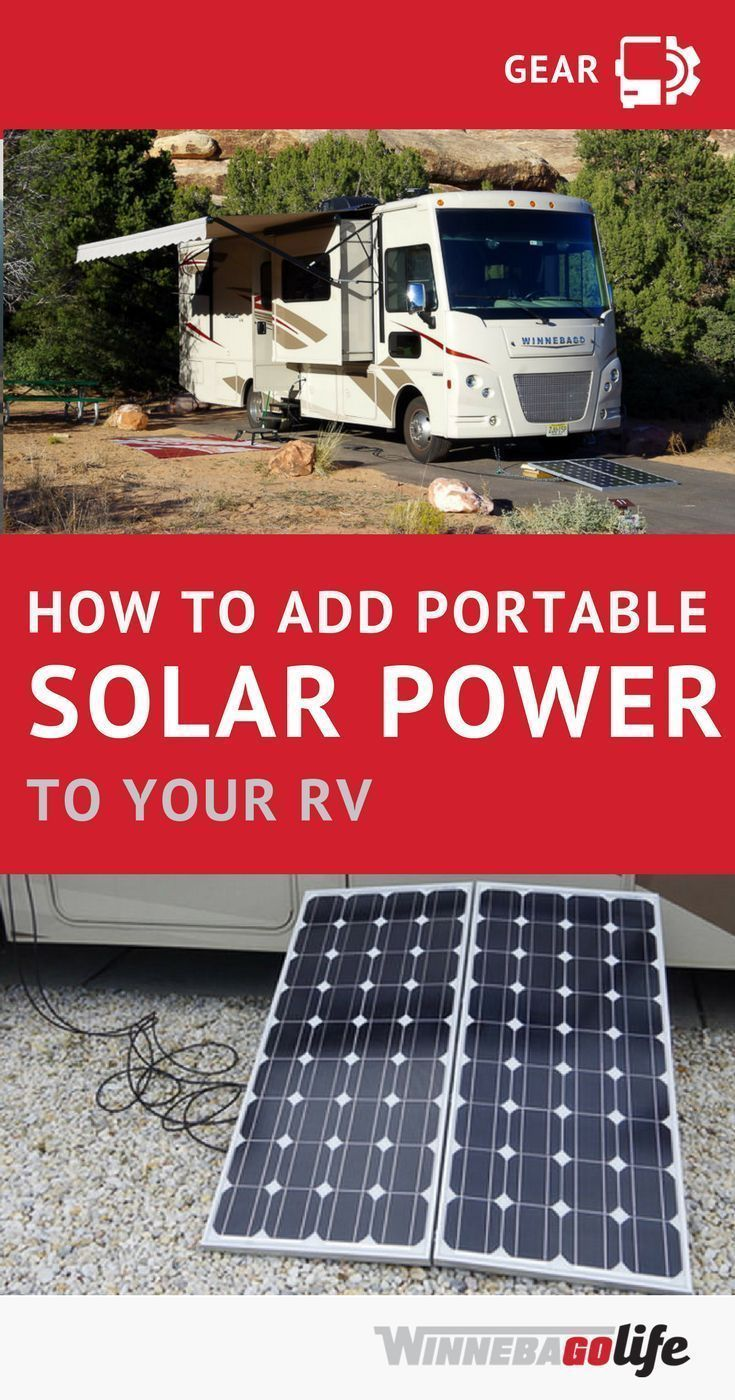How To Make Your Rv Run Off Of A Portable Solar System A Diy Panels Install Makes For A Quick And Easy Way To Get Your Power Fro Rv Solar Power