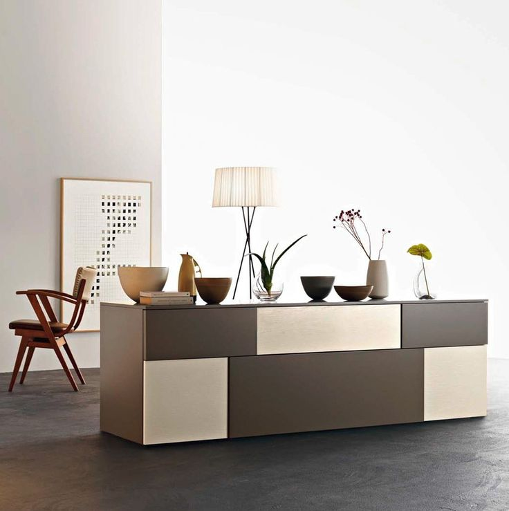 Incontro Sideboard by Sangiacomo, Italy. Fronts Th 30/20 Incontro in ash-effect Canapa and matt Castoro lacquer. Manufactured By San Giacomo. www.gasse.eu
